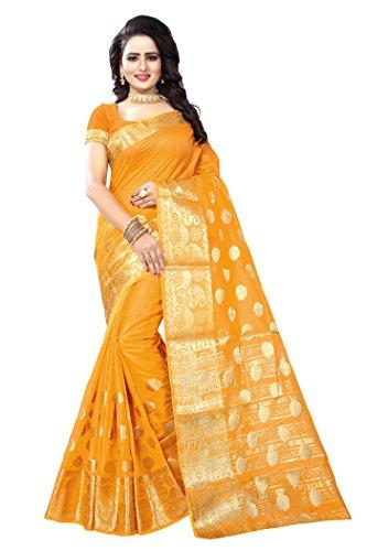 Ecolors Fab Women's Tussar Silk Saree Kanchipuram Style (saree for women latest...