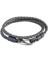 Rafaela Donata Unisex-Armband Edelstahl Leder 60907016
