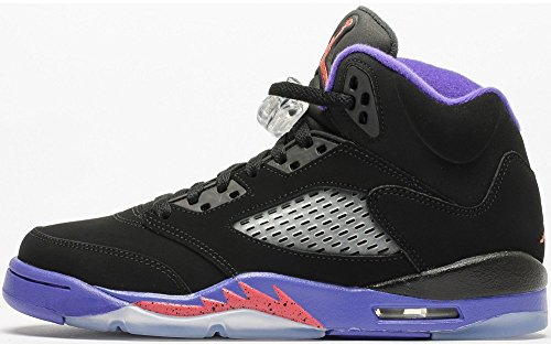 Nike  Air Jordan 5 Retro GG Basketball Turnschuhe, Black (Schwarz / Ember Glow-Fierce Purple), 37.5 EU (Nike Jordan Flight Damen)