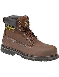 CAT Footwear - Botas de seguridad para hombres Holton SB - Marrón oscuro, 42,