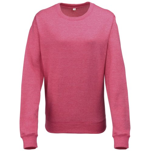 Awdis Girlie Damen Sweatshirt Heather Grau