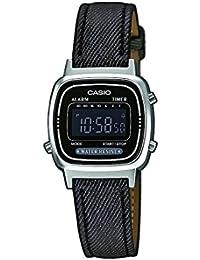 Casio Collection – Reloj Mujer Digital con Correa Imitación de Piel y Textil – LA670WEL-1BEF
