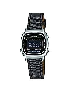 Casio Collection Montre Femme Digitale avec Bracelet en Cuir Synthétique-Tissu – LA670WEL-1BEF