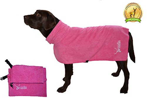 large-microfibre-dog-robe-by-arcadian-in-blue-and-pink-these-luxurious-robes-make-the-perfect-gift-f