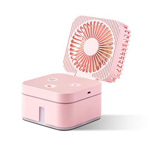 WuZhong Student Desktop Humidification Fan Kreative USB Mini Persönliche Lüfter Handheld-Fans für Zuhause, Büro, Outdoor-Reisen