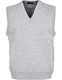 0f2b7cad8 Maan Store Mens V Neck Knitted Tank Top Slipover Sweater Sleeveless Jumper  Small to 6XL