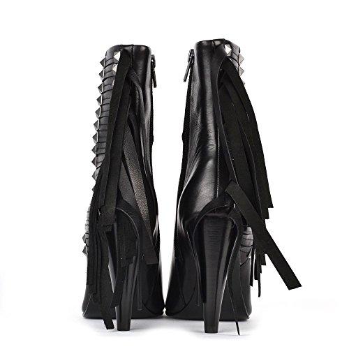 Ash Footwear Brave Boots a Talon en Cuir Noir Femme Noir