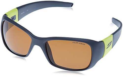 Julbo Piccolo Sonnenbrille, polarisiert Unisex Kinder, dunkelgrau/gelb grün