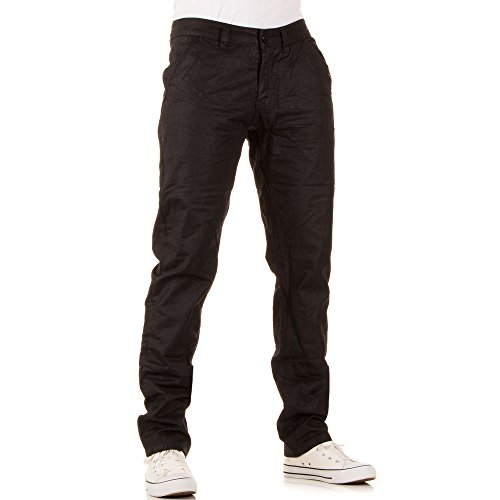 Herren Jeans, SLIM FIT BIKER MATT JEANS, KL-J-WH-1286 Schwarz