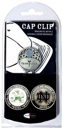 NCAA Gap Clip mit 2Golf Ball Marker, Herren Unisex Damen, Notre Dame Fighting Irish - Marker Mit Golf-hut Ball