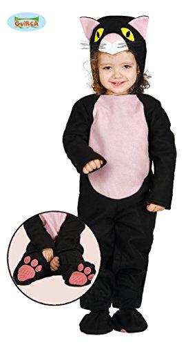 Katze 12 Monats Kostüm Schwarze - Baby Katzenkostüm Kostüm Katze für Kinder Katzen Kinderkostüm Schwarze Gr. 86-98, Größe:86/92