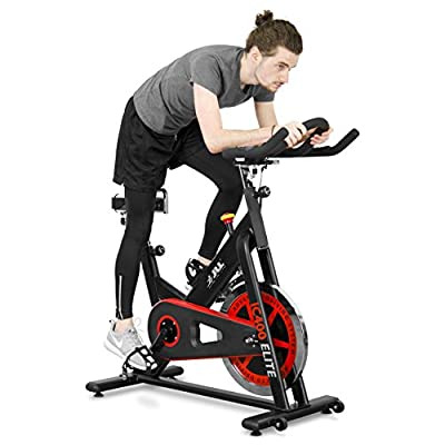 JLL IC400 ELITE Indoor Cycling Exercise Bike, 2018 Edition, Premium Domestic Machine, Featuring Advanced Cycling Performance Technology, Studio Grade Features, Direct Belt Driven 20kg Flywheel with Adjustable Friction Resistance, Competitive Q-Factor Heav