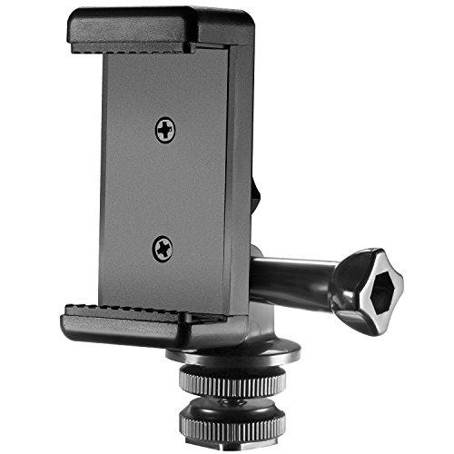 Neewer 3-in-1 Hot Shoe Mount Adapter Kit, inklusive Blitzschuh Mount, GoPro Adapter und Universal Handy Halterung für Befestigung Handy oder GoPro Hero 6 5 auf DSLR