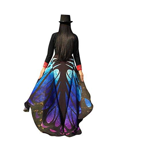 UFACE Damen Karneval Mode Stil Frauen Schmetterlingsflügel Schal Schals Damen Nymphe Pixie Poncho Kostüm Zubehör Cosplay Slim Wing Schal