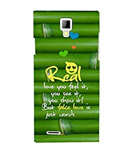 EPICCASE real love Mobile Back Case Cover For Micromax Canvas Xpress A99 (Designer Case)