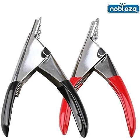 Nobleza 002894 - Cortauñas tipo guillotina para mascotas. Medidas: ancho 10,5 cm x largo 12,5 cm.