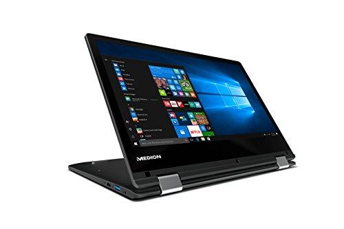 Medion Akoya E2227T MD 60713 295 cm 116 Zoll HD monitor Convertible feel Notebook Intel Atom x5 Z8300 4GB RAM 64GB show Speicher Intel HD Grafik spot of succeed 365 own Win 10 family home schwarz Notebooks