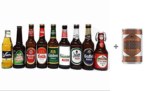 Kölsch 9er Bier Set - Sion 0,25L (4,8% Vol.) + Mühlen (4,8% Vol) + Zunft (4,8% Vol.) + Gaffel (4,8% Vol) + Früh (4,8% Vol.) + Gilden (4,8% Vol.) + Reissdorf (4,8% Vol.) + Peters (4,8% Vol) + Sünner (4,8% Vol) - je 0,33L (bis auf Sion)