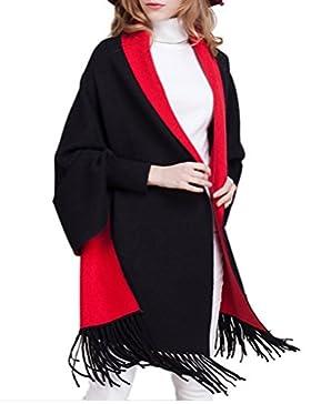 OKSakady Mujer De Punto Borla Poncho Capa Chal Cárdigan Suéter Capa