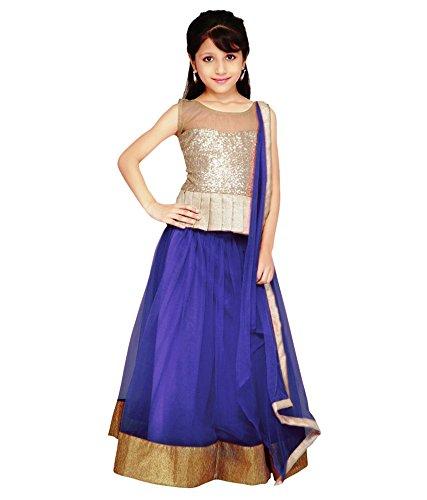 Sky Global Kids's Net Traditional Lehenga Choli (SKY_8038_Blue)  available at amazon for Rs.199
