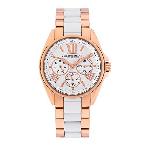 Joh. Rothmann Women's Watch Gyda stainless steel 5 ATM IPRG/WHT 10030039