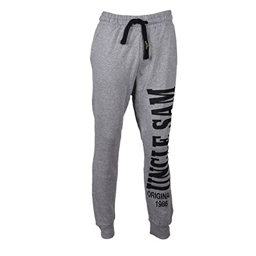 Uncle Sam ✓ Herren Bodyhose ✓ Jogginghose (XL, Grau)