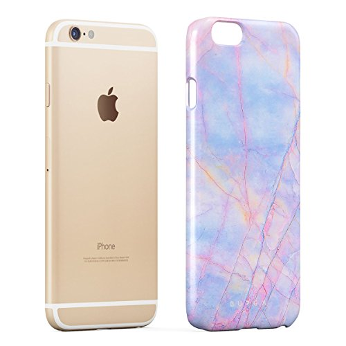 Cover iPhone 6 / 6s Colorato Marmo, BURGA Unicorno Arcobaleno Cotton Candy Marble Design Sottile, Guscio Resistente In Plastica Dura, Custodia Protettiva Per iPhone 6 / 6s Case Cotton Candy