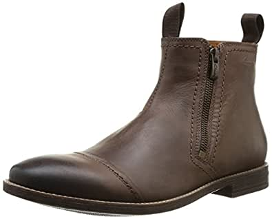 Clarks Novato Zip, Herren Kurzschaft Stiefel, Braun (Brown Leather), 42 EU (8 Herren UK)