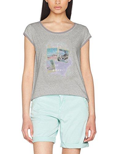 s.Oliver, T-Shirt Donna grey melange placed print 94E3