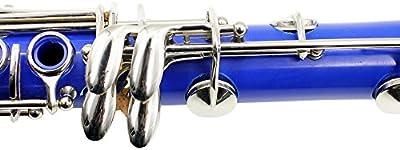 ammoon Clarinete ABS 17 bB Llave Plana Soprano Clarinete Binocular con Corcho Grasa Limpieza Paño Guantes 10 Cañas Destornillador Caso Caña Woodwind Instrumento