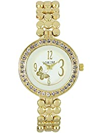 OpenDeal New Gold Designer Diamond Bracelet Watch For Girls & Woman OD-W209