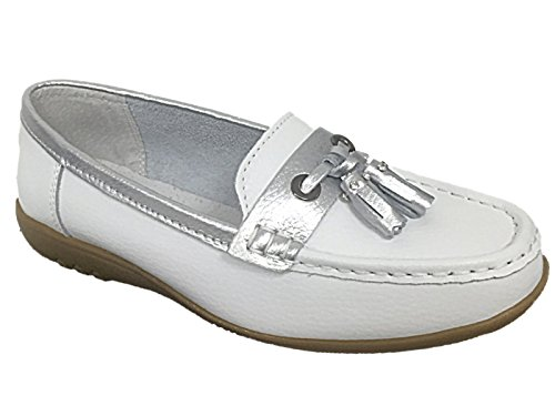 Foster Footwear ,  Damen Ballett weiß / blau