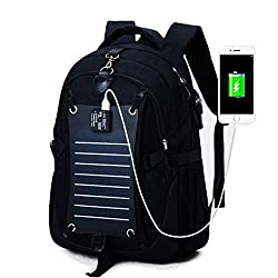 MAGIC UNION Laptop backpack backpack school backpack with solar charge for up to 15.6 inch notebook computer for campus students work outdoor travel hiking large capacity