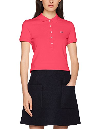 Lacoste Damen Poloshirt PF7845, Pink (Stacy Chine PH9), 40(Herstellergröße: 42)