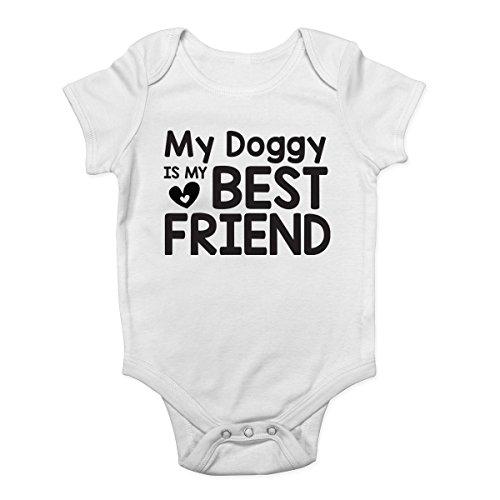 Shopagift My Doggy Is My Best Friend Cute Baby Vest Bodysuit