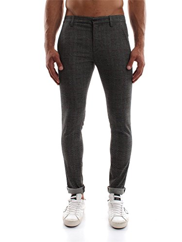 DONDUP GAUBERT UP235 QS092U CHECK PANTALONE Uomo CHECK 34
