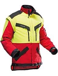 Transpirable chaqueta de trabajo forestal Pfanner ZipOff con Cordura