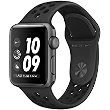 Apple Watch Nike+ OLED GPS (satélite) Reloj inteligente, Pantalla táctil, GPS (satélite), 18 h, 26,7 g, Nike Sport Banda color Negro/ Antracita  y Carcasa de aluminio Color Gris (Space Grey)