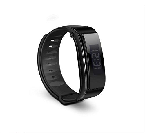 Smart Talk Armband Geschenk Bluetooth Headset Watch Anruf BraceletGAOXP (Farbe : Bright Black) Smart Talk Bluetooth