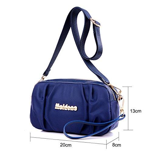 Young & Ming - Damen Handbag mit wasserdichtem Material con Multi Taschen Schultertasche mit verstellbarem Schultergurt und Handschlaufe Blau