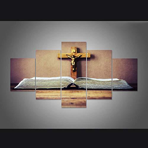 Chihie Gedruckt Poster Malerei Kruzifix Von Jesus Christus Leinwand Wandkunst Bilder Rahmen Küche Restaurant Decor Living Room 20x30cm-2p 20x40cm-2p 20x50cm-1p Kein Rahmen