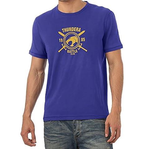 TEXLAB - Thundera Battle Club 1985 - Herren T-Shirt, Größe S, marine (He-man-kostüm Für Kinder)