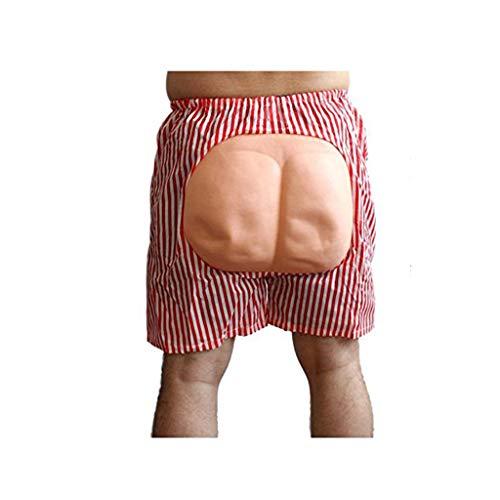 Kostüm Fake Hintern - Xbswan Tricky Prank Toys, Novelty Jokes Exposed Ass Shorts Lustige Gadgets Streich Toys Für Beach Halloween Masquerade,Rosa