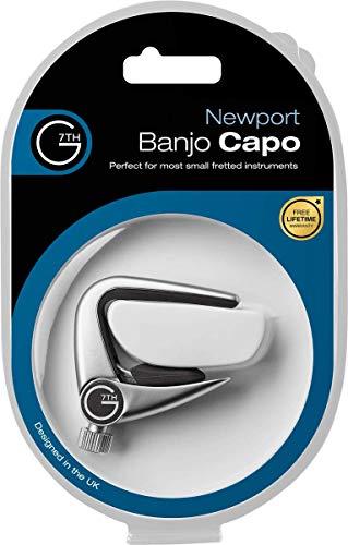 G7TH C34013 Newport Banjo Capo silber