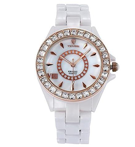 XXFFH Montre Casual Digital Mechanical Solar Céramiques De Quartz Diamond Watch Mode Imperméable Femmes De , 2