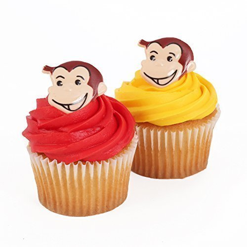 Curious George 24 Cupcake Topper Rings by Bakery Crafts (Curious George Cupcakes)