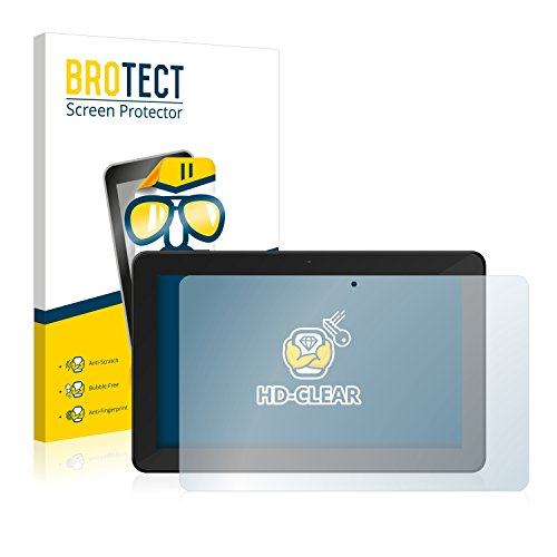BROTECT Schutzfolie kompatibel mit TrekStor SurfTab xintron i 10.1 3G [2er Pack] klare Bildschirmschutz-Folie