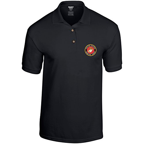 USMC United States Marine Corps US Army Mens Polo Shirt Unofficial