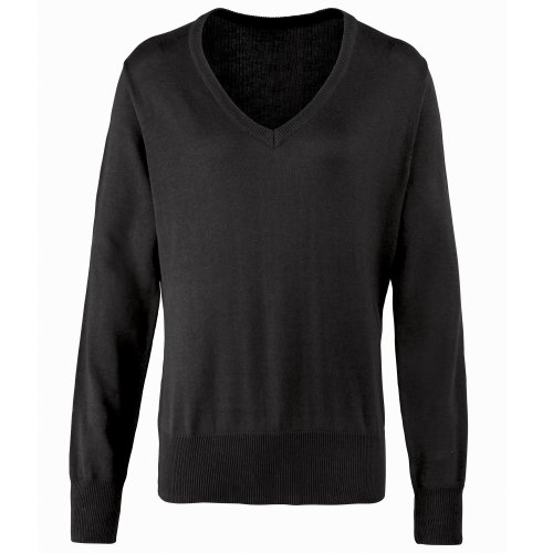 Premier Womens/Ladies V-Neck Knitted Sweater / Top 15