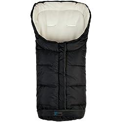 Altabebe Active Line - Saco de invierno para silla de coche, 0-12 meses, color negro / blanco
